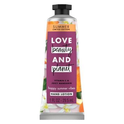 Love Beauty and Planet Happy Summer Vibes Vitamin C and Juicy Mandarin Hand Cream - 1oz