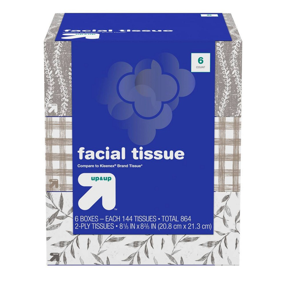 Facial Tissue - 6pk/144ct - Up&Up (Compare to Kleenex)