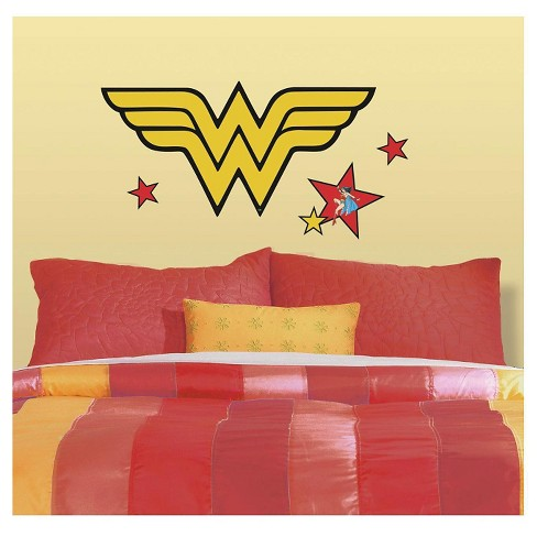 RoomMates Classic Wonder Woman Logo Peel and Stick Giant Wall Decals - image 1 of 2