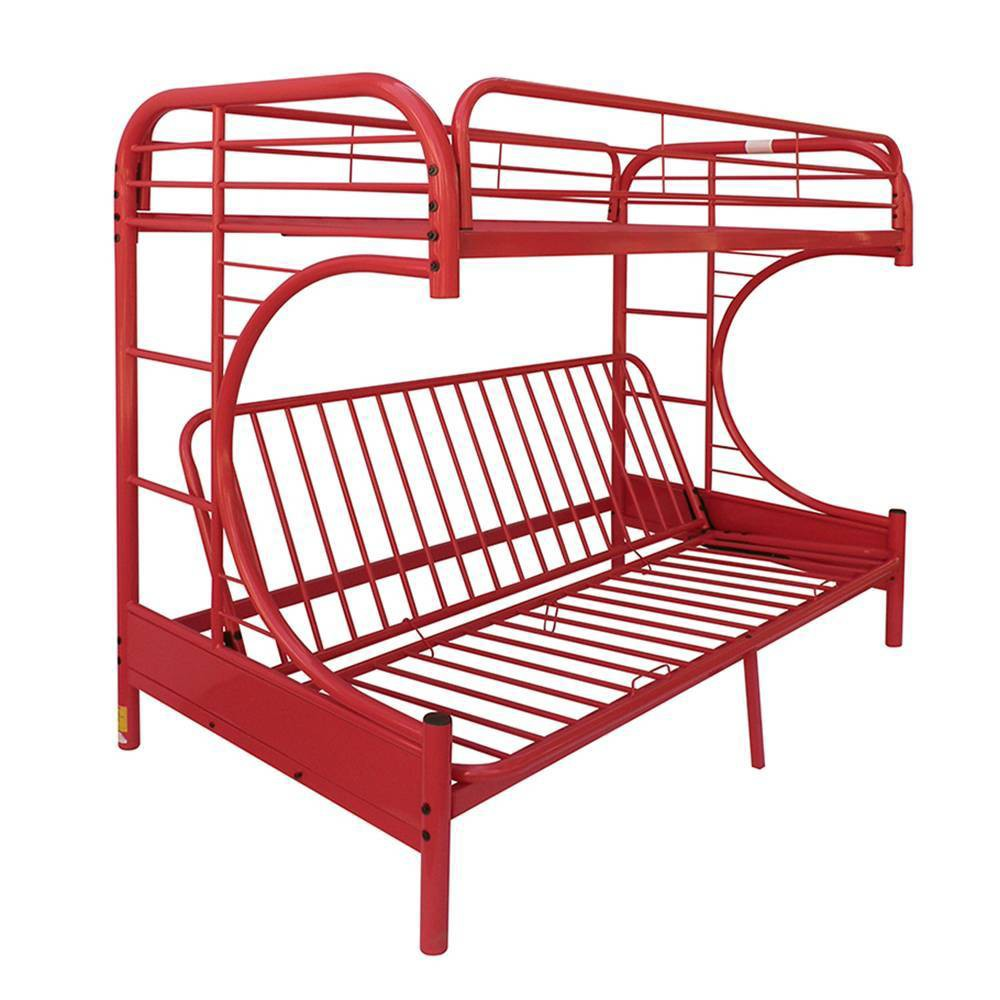 Twin Over Full/Futon Eclipse Bunk Bed Red - Acme