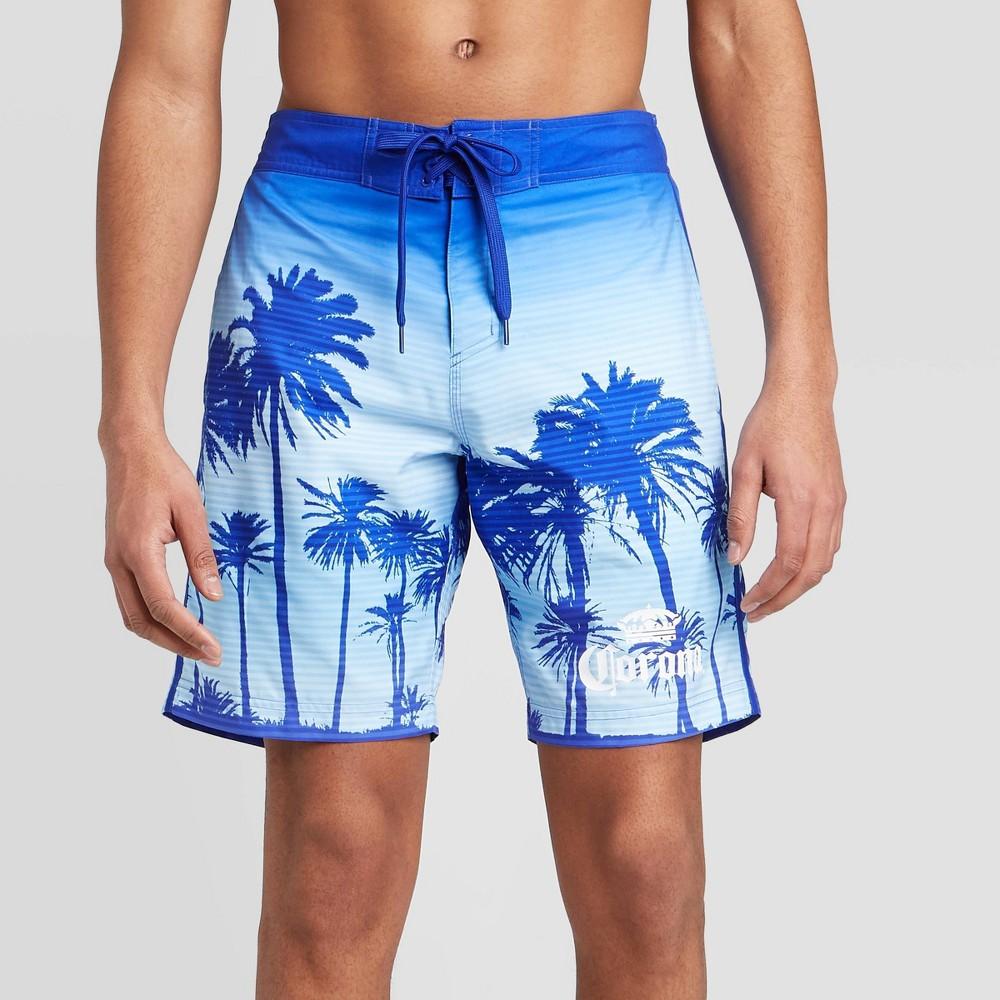 """Image of """"Men's 9"""""""" Corona Swim Trunks - Blue L, Men's, Size: Large"""""""
