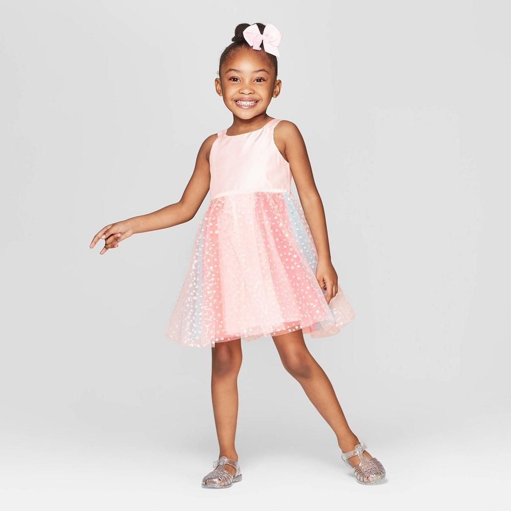 Toddler Girls' Ponte Top A-Line Dress - Cat & Jack Pink 18M