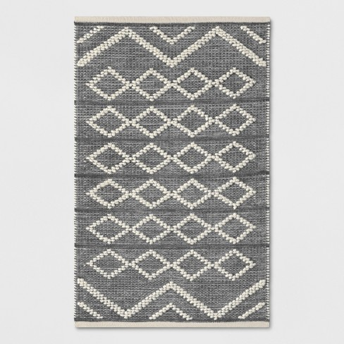 Diamond Gray Rug Threshold Target