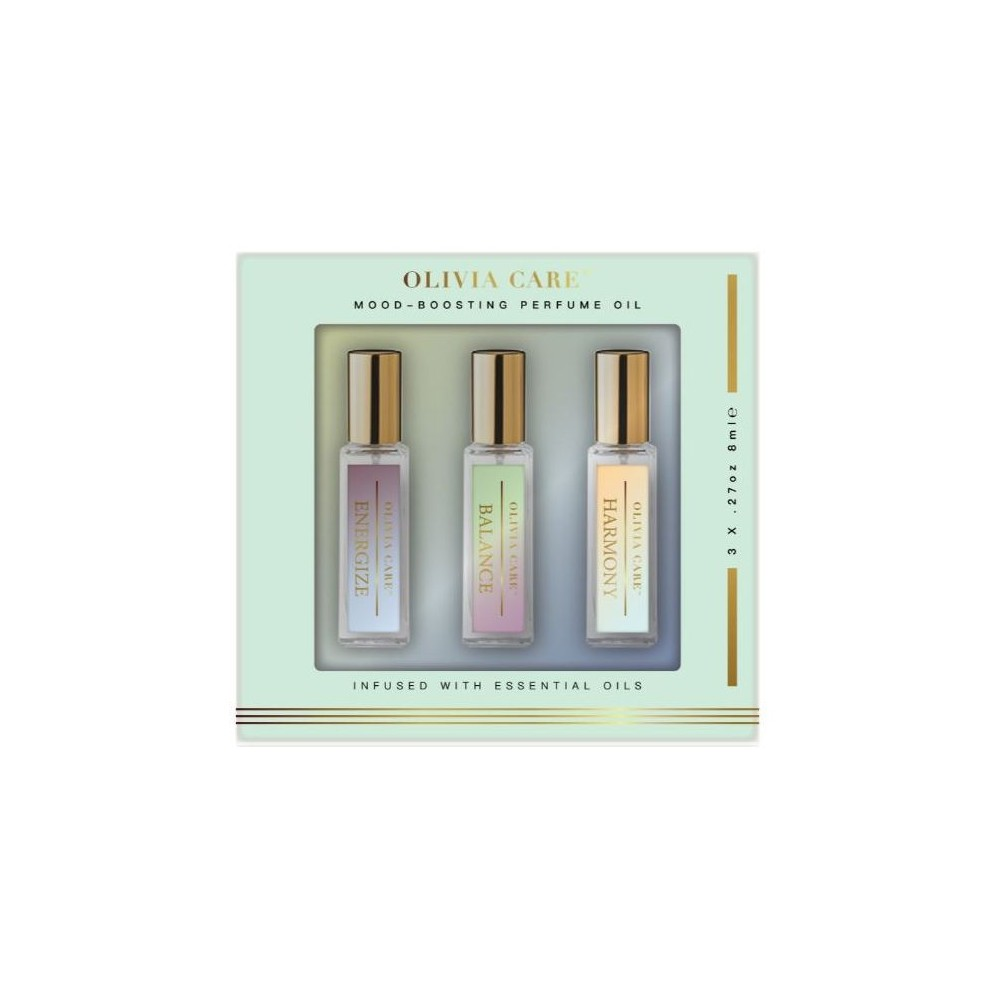 Image of Olivia Care Mood Boosting Fragrance Oil 3pc Gift Set
