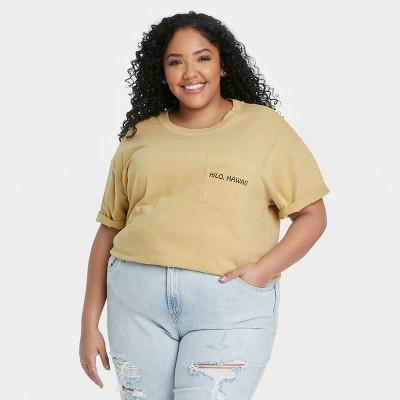 Women's Big Island Aloha Short Sleeve Graphic T-Shirt - Tan
