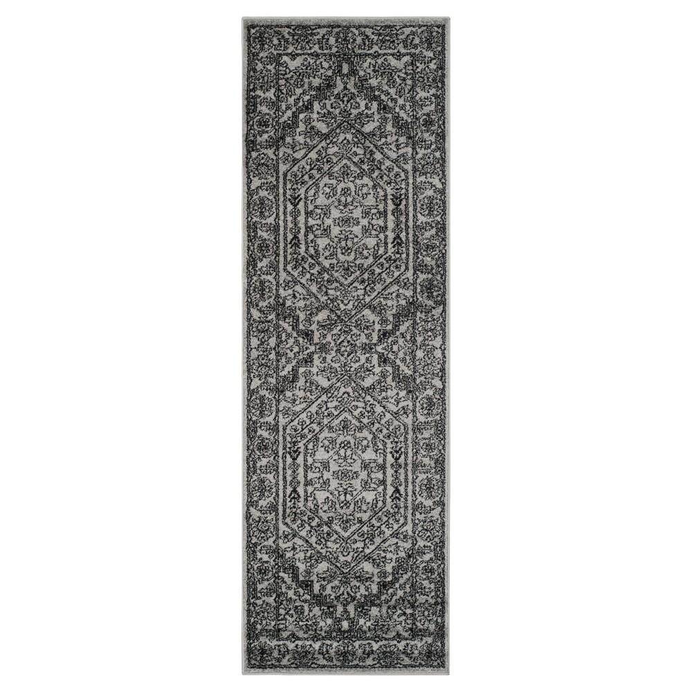 Aldwin Runner - Silver/Black (2'6x8') - Safavieh