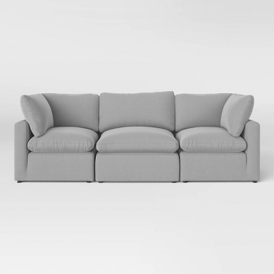 3pc Allandale Modular Sectional Sofa Set Gray - Project 62™