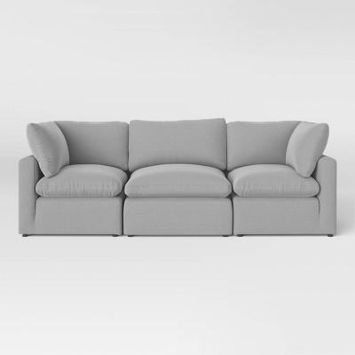 3pc Allandale Modular Sectional Sofa Set Gray - Project 62™