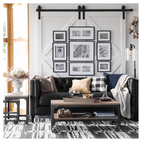 Hudson Industrial Floor Lamp Black Includes Energy Efficient Light