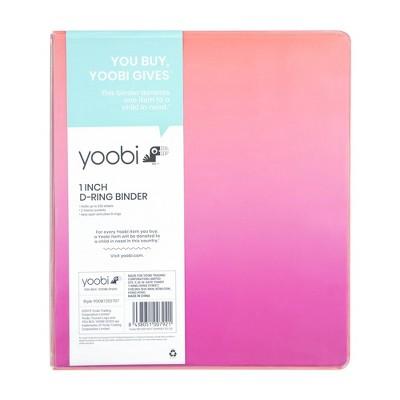 """1"""" Ring Binder Pink Ombre  - Yoobi™"""