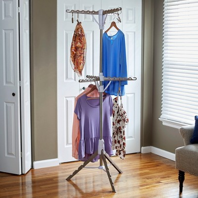 Household Essentials 2 Tier Tripod Clothes Dryer with Clips