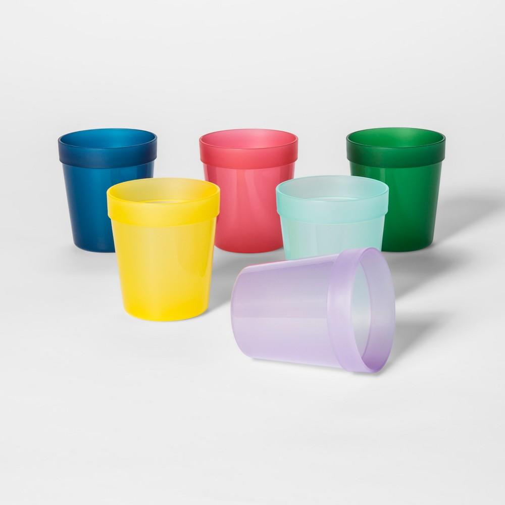 8oz 6pk Plastic Kids Short Tumblers - Pillowfort, Multi-Colored
