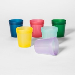 8oz 6pk Plastic Kids Short Tumblers - Pillowfort™