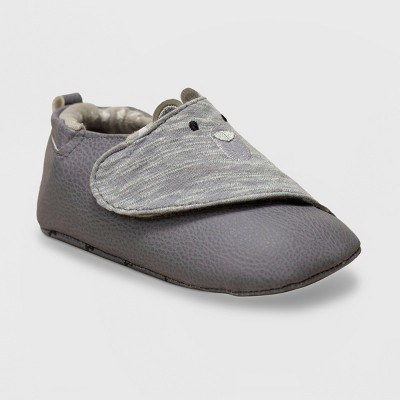 Ro+Me by Robeez Baby Boys' Bear Sneakers - Gray 0-6M