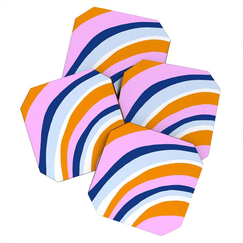 4pk Sunshine Canteen Canyon Stripes Coasters Society6