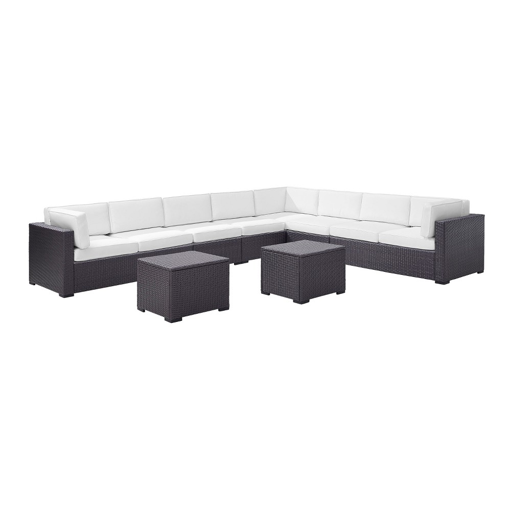 Biscayne 6pc All-Weather Wicker Patio Seating Set - White - Crosley