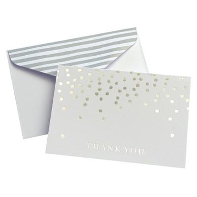 24ct Silver Dots Thank You Cards - Mara-Mi