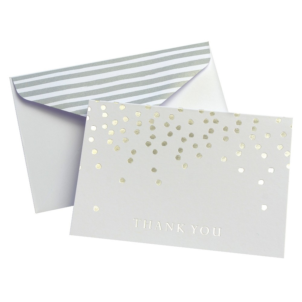 Image of 24ct Gold Dots Thank You Cards - Mara-Mi
