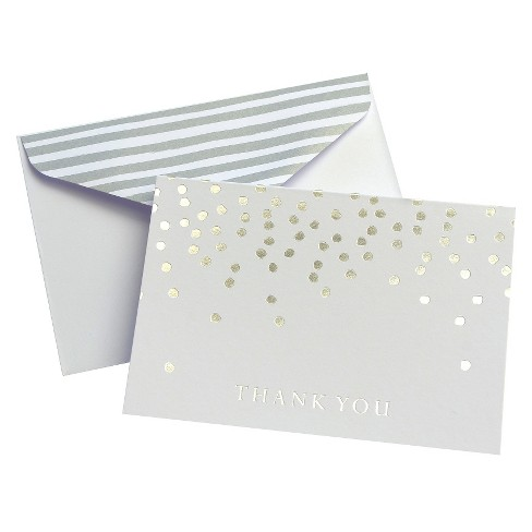24ct Silver Dots Thank You Cards - Mara-Mi - image 1 of 1