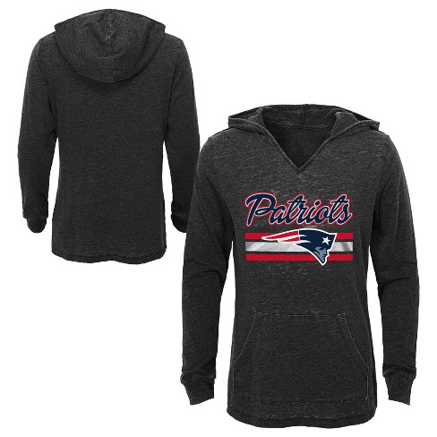 61ff6cf6f NFL New England Patriots Girls  Game Time Gray Burnout Hoodie   Target