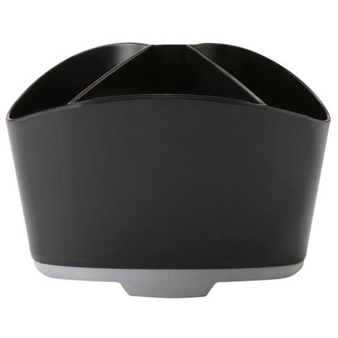 Storex 6pk Rubber Grip Mini Desk Organizer - Black - image 1 of 3