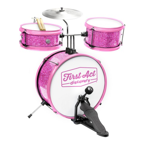 First Act Discovery Drum Set Seat Pink Sparkle Target
