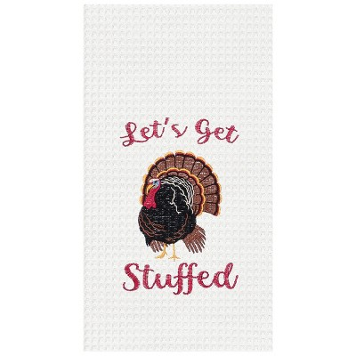 C&F Home Let's Get Stuffed Waffle Weave Kitchen Towel