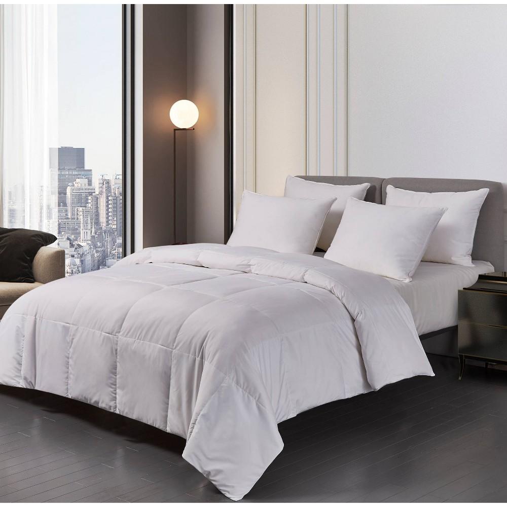 Image of Microfiber Down Blend Comforter (King) White - Blue Ridge Home Fashions