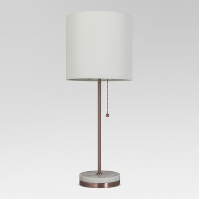 Hayes Marble Base Stick Lamp Copper Includes Energy Efficient Light Bulb - Project 62™