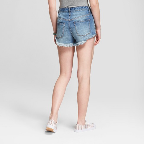 b780c5086bb Women s High-Rise Destructed Jean Shorts - Mossimo...   Target