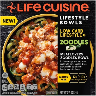 Life Cuisine Frozen Low Carb Meatlovers Zoodles - 10.375oz
