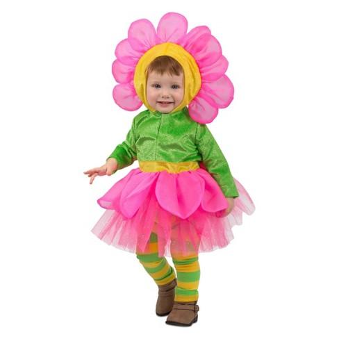 Girls' Bright Flower Halloween Costume XS - image 1 of 1