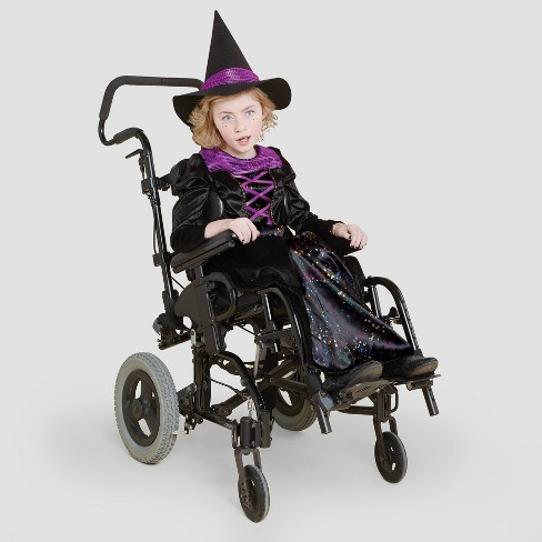 Kids' Adaptive Witch Halloween Costume Dress with Hat - Hyde & EEK! Boutique™ - image 1 of 4