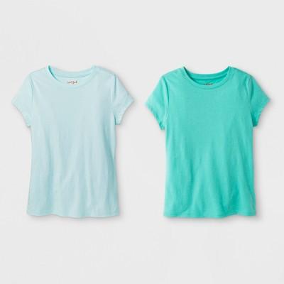 Girls' 2pk Solid Short Sleeve T-Shirt - Cat & Jack™