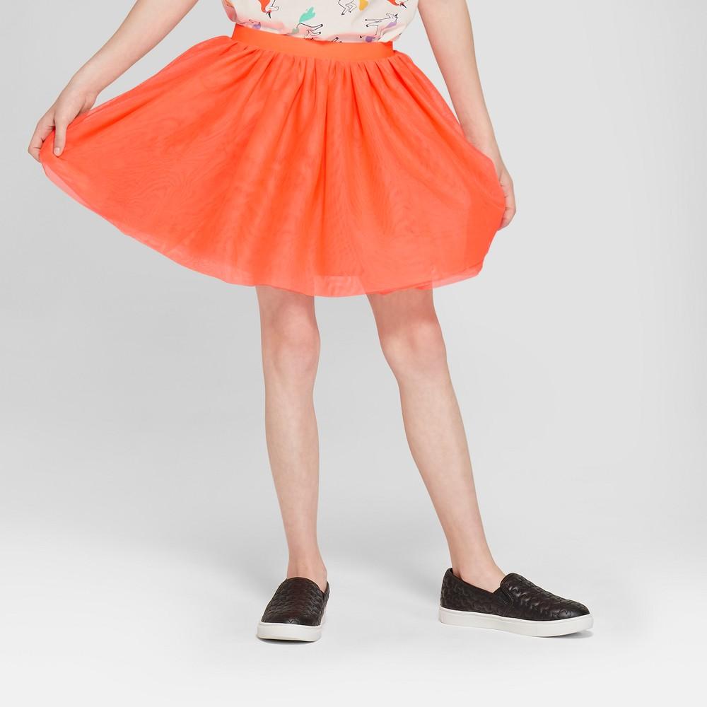 Girls' Tutu Skirt With Waist Band - Cat & Jack Orange S
