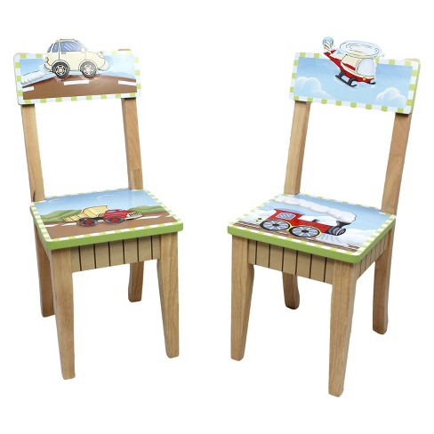Fantasy Fields Transportation Chairs Wood (Set of 2) - Teamson - image 1 of 10