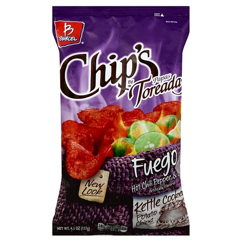 Barcel Fuego Kettle Cooked Hot Chili Pepper & Lime Flavored Chips - 4.1oz - image 1 of 1
