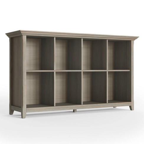 33 X57 Halifax 8 Cube Storage Sofa Table Distressed Gray Wyndenhall