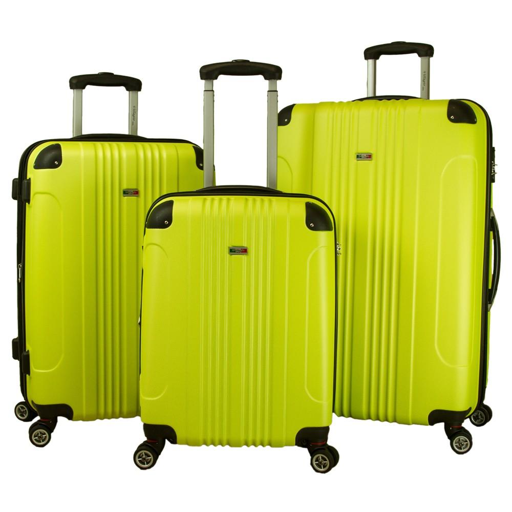 Villagio Carnival 3pc Hardside Spinner Luggage Set - Lime Twist