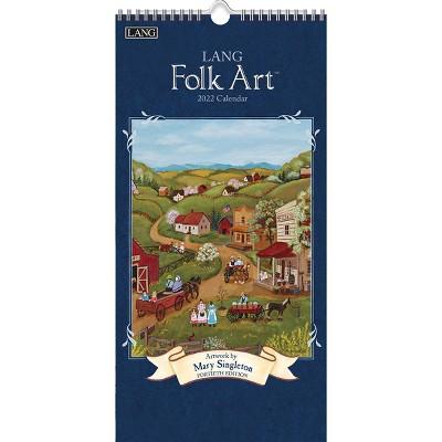 """2022 Vertical Wall Calendar 7.75""""x15.5"""" Lang Folk Art - Lang"""