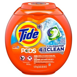 Tide PODS Laundry Detergent Pacs Coldwater Clean - 61ct