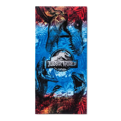 Jurassic World Beach Towel Fictitious Character Blue/Red - image 1 of 1