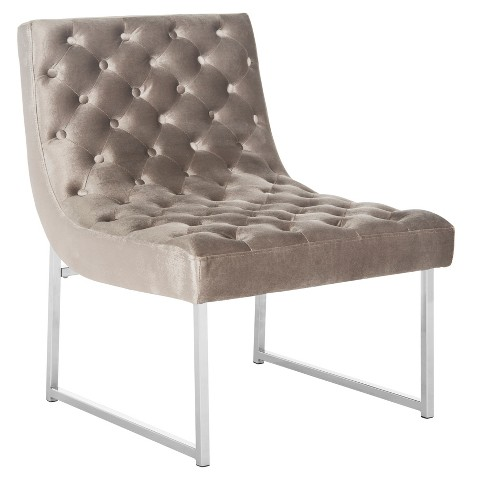 Hadley Tufted Armless Chair  - Safavieh - Threshold™ - image 1 of 4
