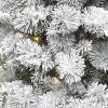 5ft Pre-lit Artificial Christmas Tree Potted Flocked Virginia Pine Clear Lights - Wondershop™ - image 2 of 4