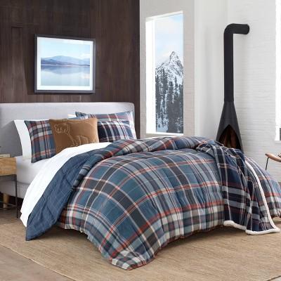 Eddie Bauer Twin Shasta Lake Comforter Set Indigo