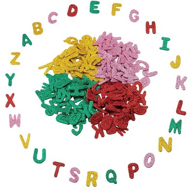 Juvale Glitter Letters, Self Adhesive Stickers (1.5 in, 208 Pieces)