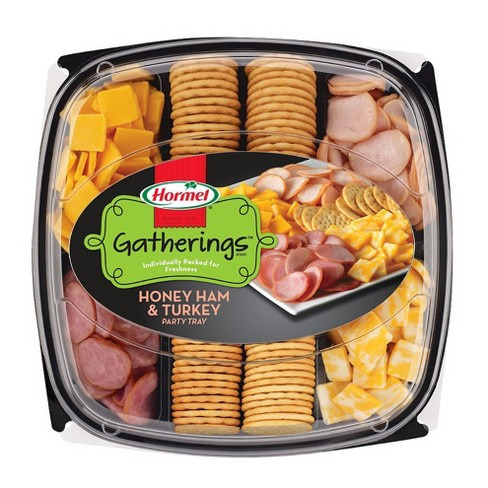 Hormel Turkey, Ham And Cheese Party Tray Meat And Cheese Platters - 28oz - image 1 of 4