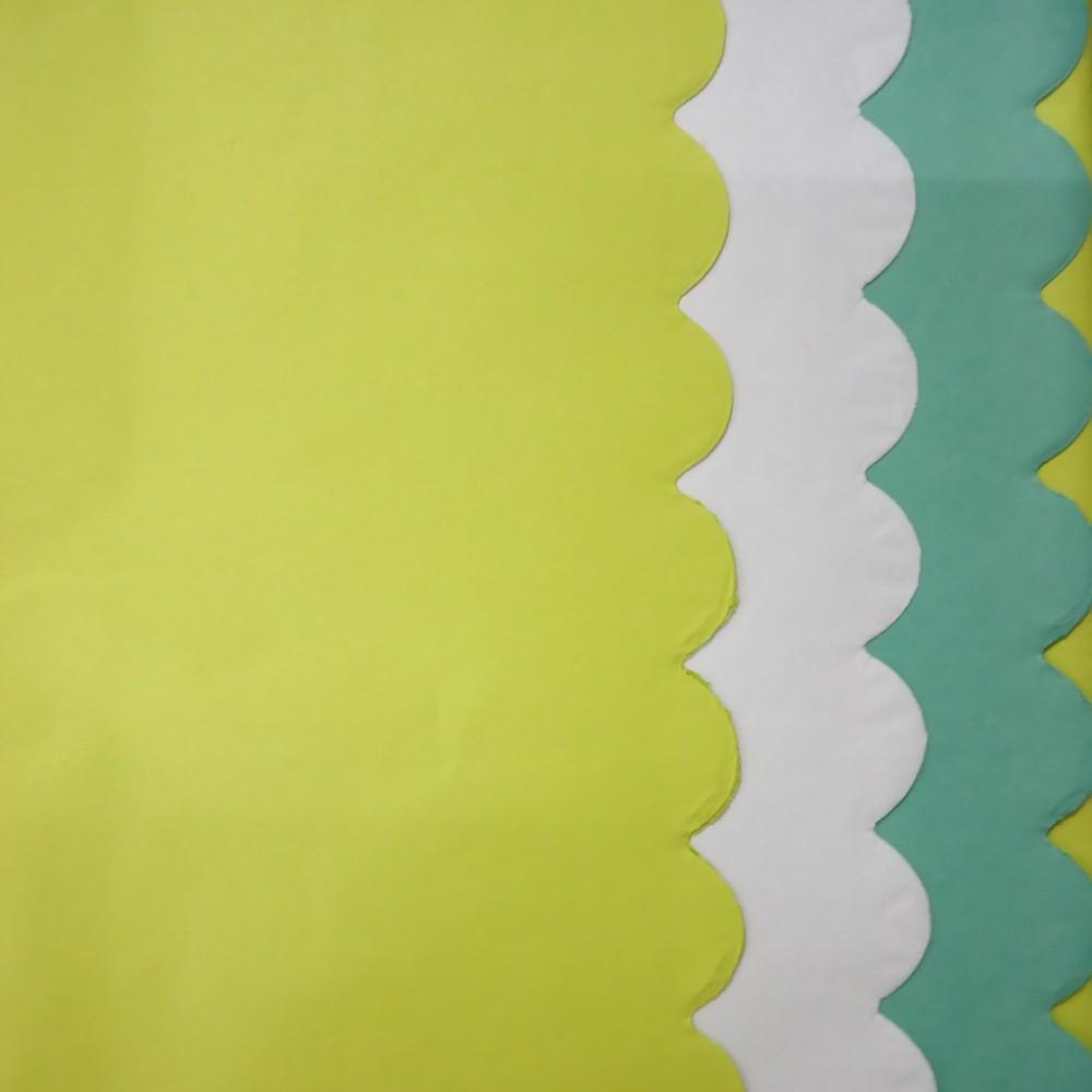 Image of 3 Step Scallop Tissue Paper Green/white - Spritz