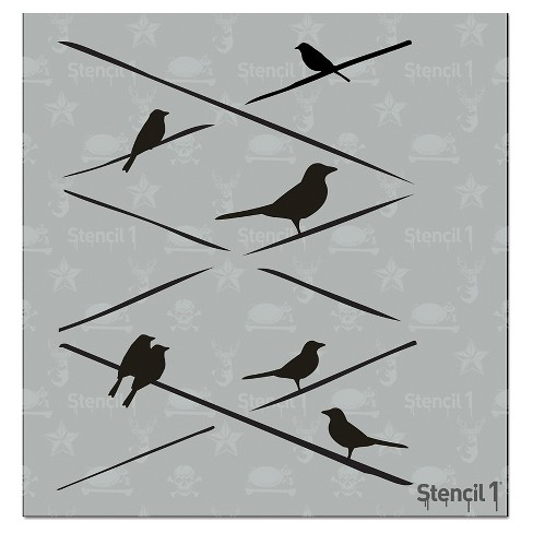 "Stencil1® Birds on Wire - Stencil 5.75"" x 6"" - image 1 of 3"