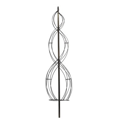 Artificial Double Spiral Metal Frame (5ft) Green - Vickerman